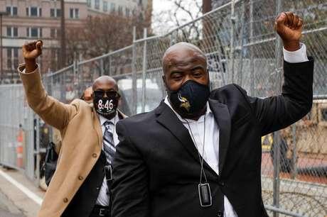 Parentes de George Floyd seguem para julgamento do ex-policial Derek Chauvin  7/4/2021   REUTERS/Nicholas Pfosi