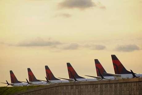 Aviões em Atlanta 21/3/2020   REUTERS/Elijah Nouvelage