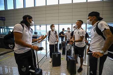 Os jogadores do time mineiro já estão a caminho da Venezuela para começar sua jornada rumo ao bicampeonato-(Pedro Souza/Atlético-MG)