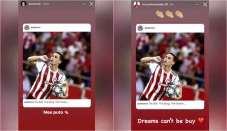 Repúdio de portugueses no Instagram (Foto: Reprodução / Instagram)