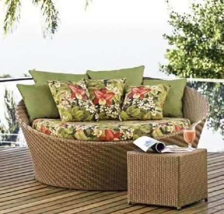 45. O sofá de vime está em alta na decoração. Fonte Pinterest