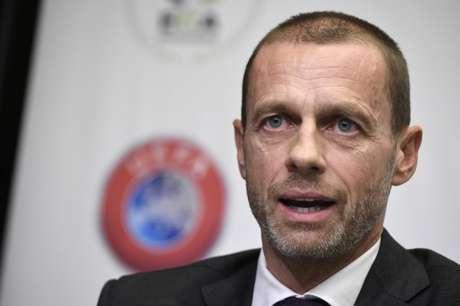 O dirigente eslovenoAleksander Ceferin é presidente da UEFA desde 2016(Foto: AFP)