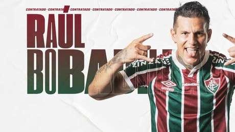 Raúl Bobadilla já foi anunciado pelo Fluminense. (Reprodução/site do Fluminense)