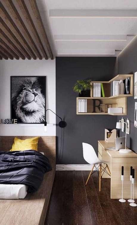 12. É importante que a mesa para quarto se harmonize ao estilo de decoração do ambiente – Foto: Pinterest