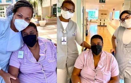 Cacau Protásio compartilhou fotos com a sua equipe médica
