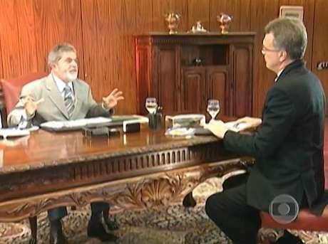 """""""Concluída a gravação, Lula nos convidou, afável, para conversar na sala de reuniões ao lado de seu gabinete"""", conta Pedro Bial a respeito do encontro no final de 2005"""