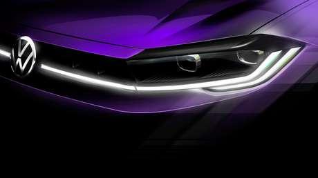 Nova grade do Volkswagen Polo reestilizado, que será lançado dia 22 de abril.