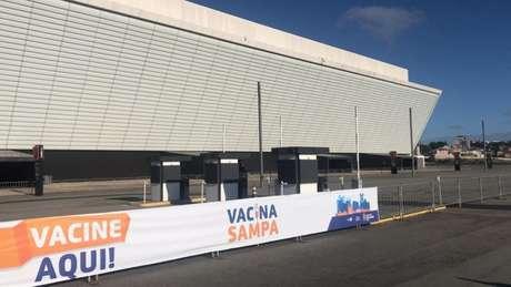 Vacinação na Neo Química Arena será retomada nesta quarta-feira (Foto: Ag. Corinthians)