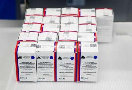 Embalagens  da vacina Sputnik-V 04/12/2020 REUTERS/Anton Vaganov