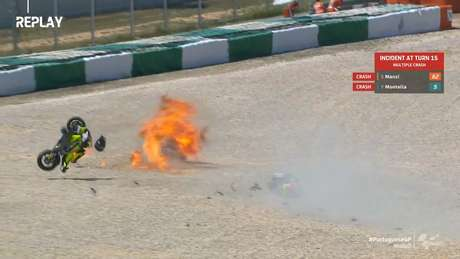 Manzi e Montella na brita com as motos explodindo
