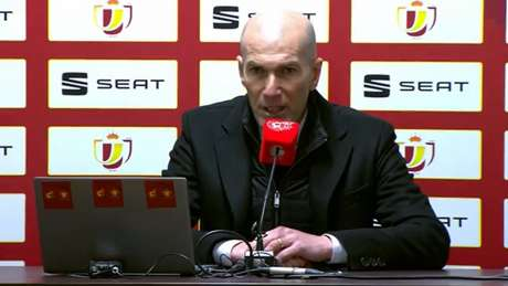Zidane afirmou que Superliga é assunto de Florentino Pérez (Foto: Reprodução / RFEF)