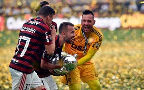 Flamengo estreia amanhã na Libertadores (Foto: CRIS BOURONCLE / AFP)