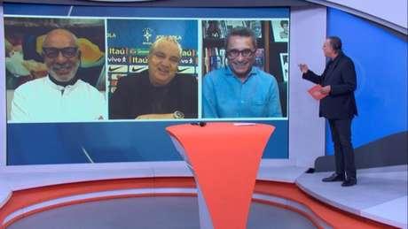 No 'Bem, Amigos', Branco e Galvão Bueno conversaram sobre Covid-19 do ex-atleta (Reprodução/SporTV)