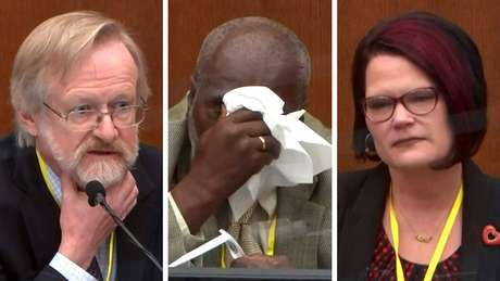 Cerca de 45 pessoas testemunharam no julgamento, incluindo (da esquerda para a direita) Martin Tobin, Charles McMillian e Courteney Ross