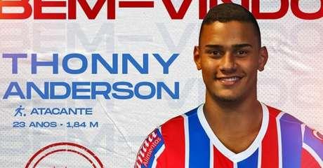 Thonny Anderson é um dos reforços do Bahia para a temporada 2021 (Foto: Divulgação)