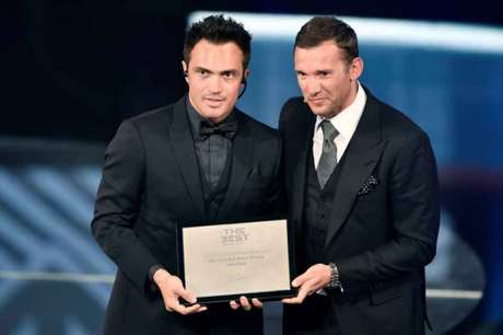 Falcão foi reconhecido o 'The Best' do futsal, pela Fifa (Foto: Fabrice Coffrini / AFP)