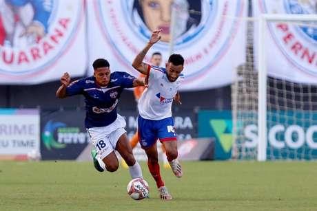 Renan Guedes tem se destacado no time sub-23 e foi inscrito na Sul-Americana (Foto: Felipe Oliveira/Bahia)