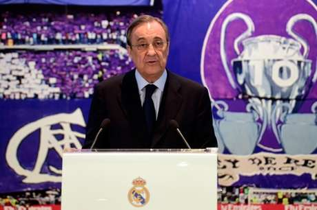 Florentino Pérez descartou o fim da Superliga (Foto: DOMINIQUE FAGET / AFP)