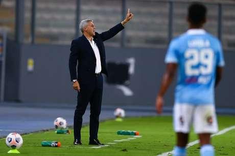 Crespo durante a vitória contra o Sporting Cristal (Foto: Staff Images / CONMEBOL)