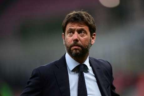Agnelli afirmou que a Superliga não faz mais sentido (Foto: MIGUEL MEDINA / AFP)