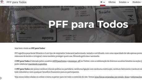 Site do PFF para Todos mostra opções de compra em todo o Brasil