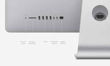 Conexões do iMac de 2020, de 27 polegadas