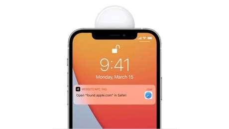 Apple AirTag emite mensagem com informações para entrar em contato com o dono do gadget perdido via NFC