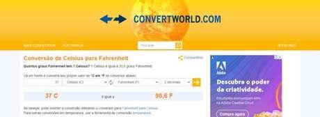 No Convert World, além da conversão rápida, você encontra alguns fatos sobre a escalas utilizadas
