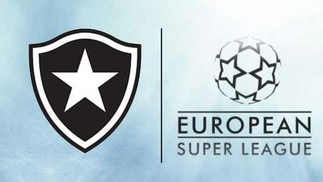 Botafogo foi apresentado como um dos grandes europeus que anunciaram a Superliga (Montagem LANCE!)