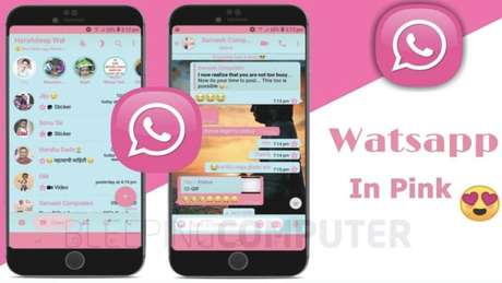 Página do WhatsApp Pink