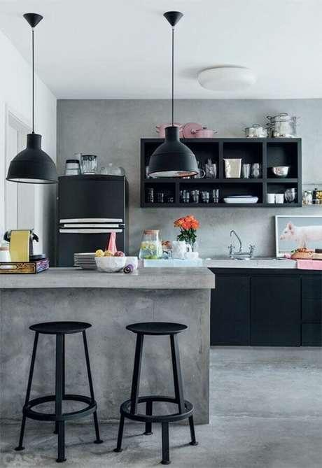 13. Saiba como escolher o melhor projeto de cozinha com balcão para a sua casa – Foto: Arquiteto de Bolso