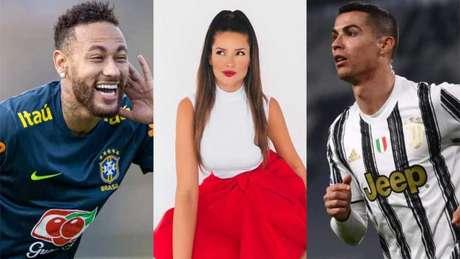 Juliette superou os astros do futebol Neymar e CR7 (Montagem LANCE!)