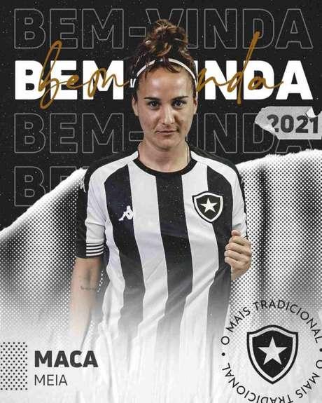 O último time de Maca foi o Sporting Cristal, do Peru (Foto: Reprodução/Twitter Botafogo)