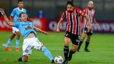 Benítez foi um dos principais nomes da equipe na vitória contra o Sporting Cristal (Foto: Staff Images / CONMEBOL)