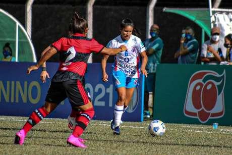 Partida foi disputada no estádio Carlos Alberto Costa Neves, em SC (Foto:Andrielli Zambonin/Napoli)