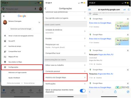 Como limpar o histórico do Google Maps no celular