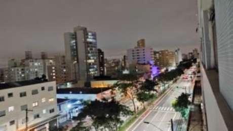 Câmera principal no modo noturno