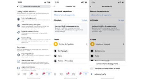 Configurando o Facebook Pay no Facebook