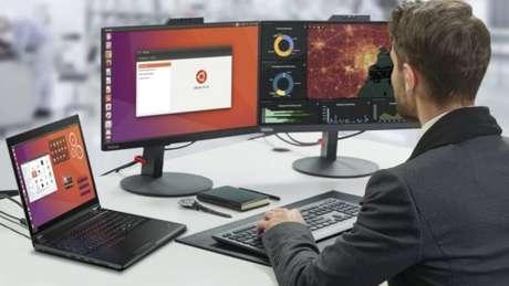Computador com Ubuntu Linux