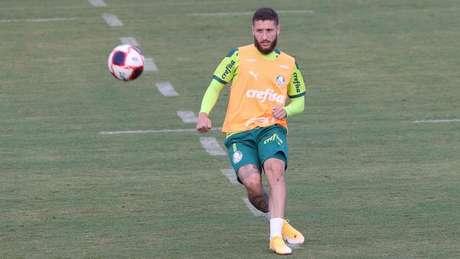 Zé Rafael está recuperado de entorse no tornozelo (Foto: Cesar Greco/Palmeiras)