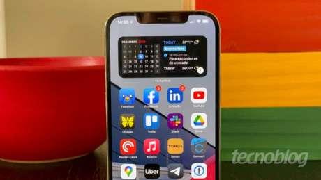 iPhone 12 Pro Max com iOS 14