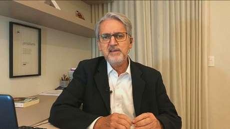O comentarista de política Valdo Cruz é um dos jornalistas da GloboNews que inseriram o quadro na decoração para as transmissões ao vivo
