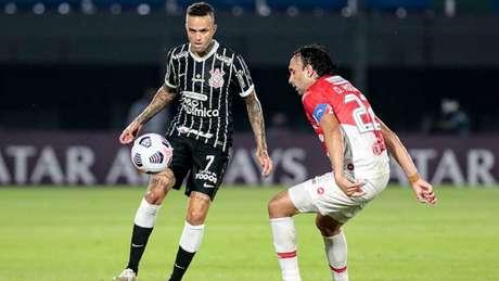 Luan foi titular do Corinthians no Paraguai e não conseguiu a vitória (Foto: Rodrigo Coca/Agência Corinthians)