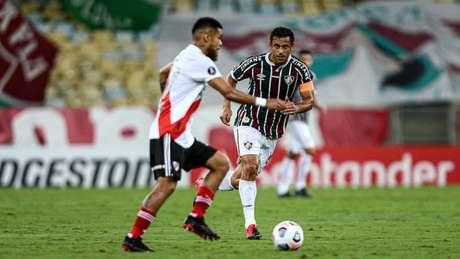 Fred fez o gol de empate do Tricolor (FOTO: LUCAS MERÇON / FLUMINENSE F.C.)