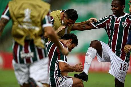 Cazares foi eleito o craque do jogo no Maracanã. Foto: Lucas Merçon/Fluminense FC