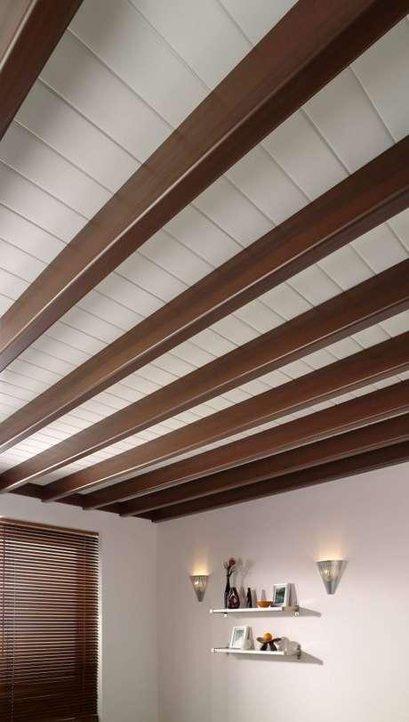 14. Tipos de forro de PVC com suporte de madeira