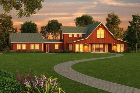 21. Modelo de casa de fazenda