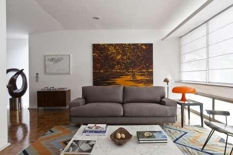 45. Quadro grande para decoração de sala simples – Foto: AMC Arquitetura