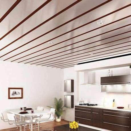 31. O forro de PVC pode ser feito de madeira ou ter uma pintura da cor que você preferir!
