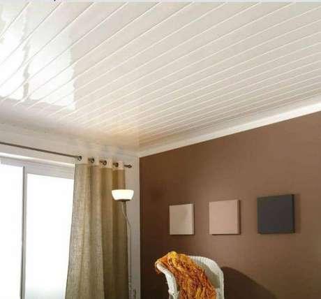 13. Forro de pvc branco na decoração de casa